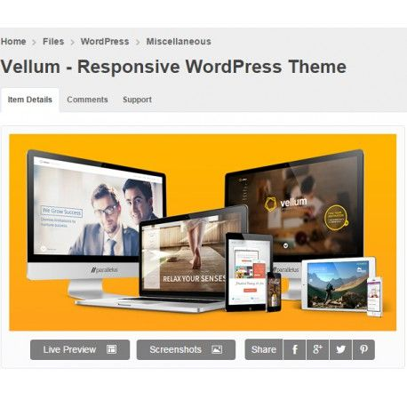 Vellum - Responsive WordPress Theme | Vellum - Responsive WordPress ...