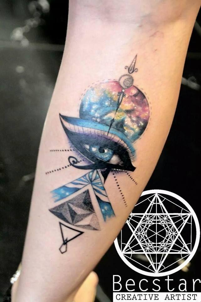 Intergalactic Horus Eyes By Becstar Tatoos Horus Tattoo Tattoos