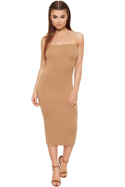 Zaira Bodycon Boobtube Midi Dress  6d567c561