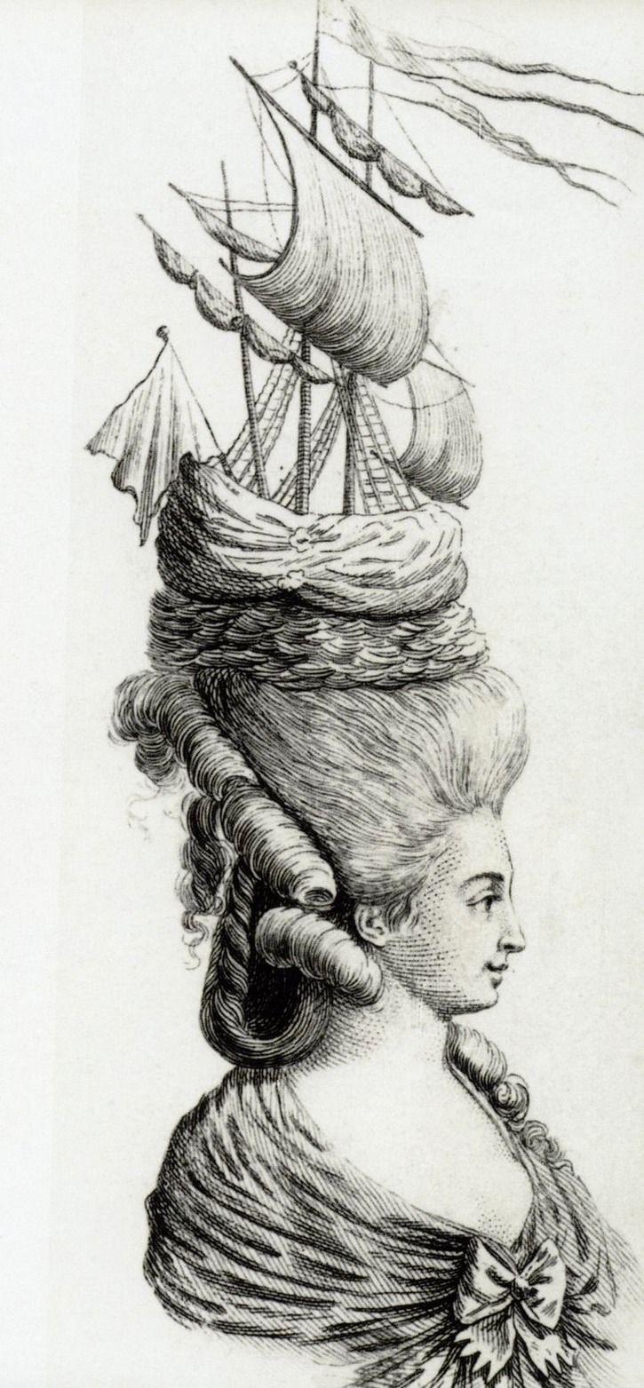 Marie Antoinette Pouff Coiffure Grand Ladies Marie Antoinette Marie Antionette 18th Century