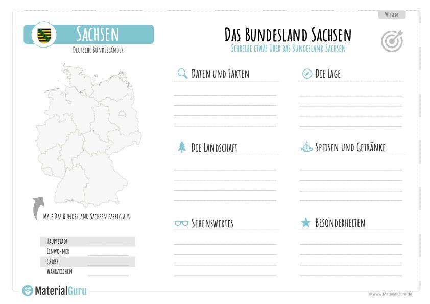 Bundesland Sachsen Materialguru