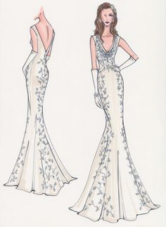 Plunging V Neck Wedding Dress Mermaid Pin From