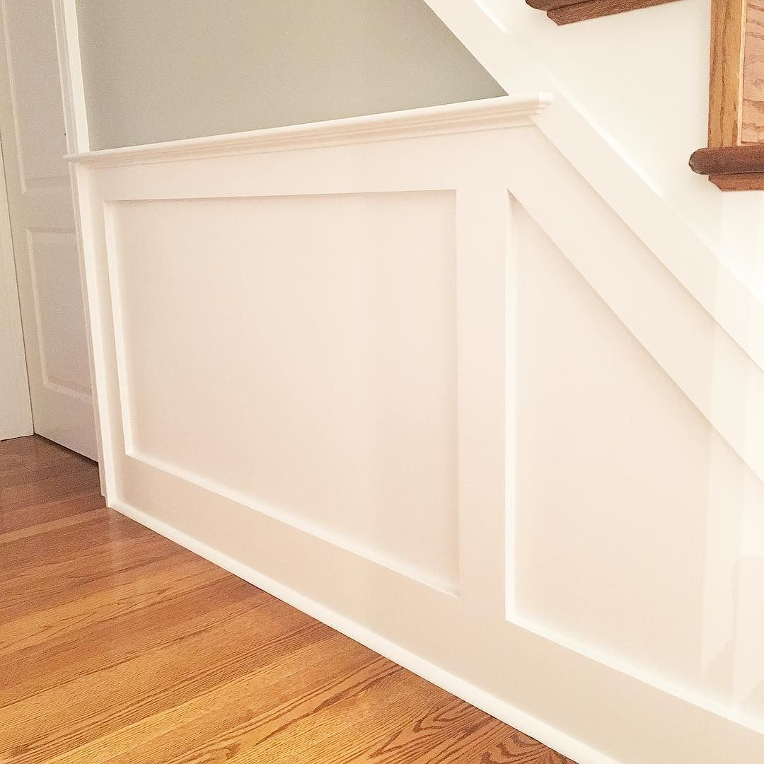Tyler Grace On Instagram Wainscoting Details The Little Things Like Extending The Cap And Cove Moulding Over The S Cove Moulding Wainscoting Stairs Skirting