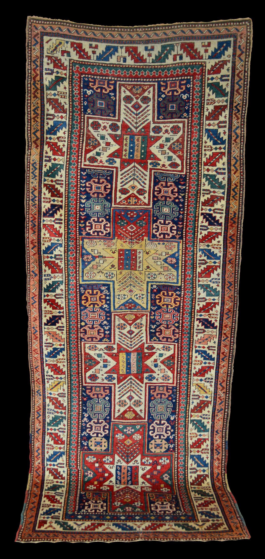 Caucasian Surahani Rug With Four Star