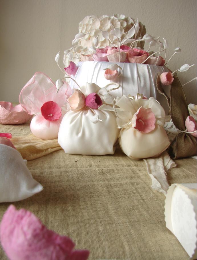 Super Matrimonio ecologico, Roma : bomboniere in lino, raso e fiori di  WR66
