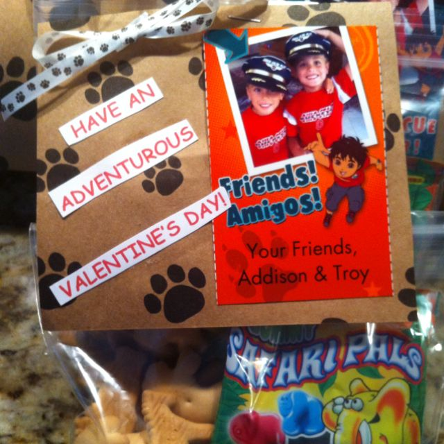 Semi-homemade Diego Treats, using photo cards from Walmart.