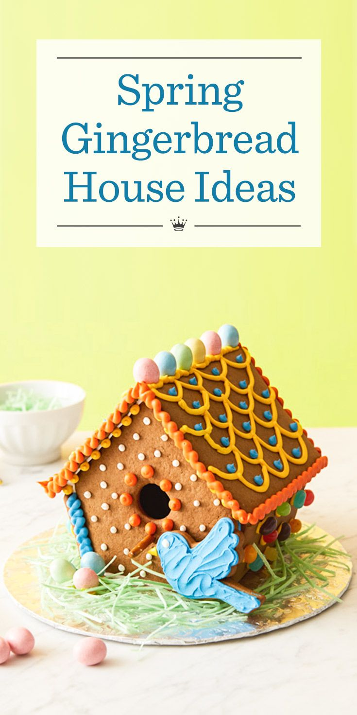 Spring gingerbread house ideas kids tired of being cooped up this winter let their imagination take flight with our fun birdhouses perfect also home tweet bake some rh in pinterest