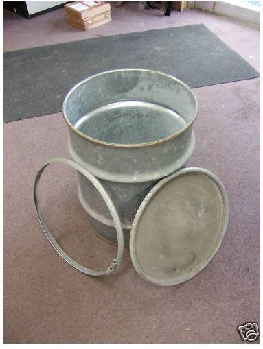 15 Gallon Galvanized Drum Drums Equipment For Sale Glassware