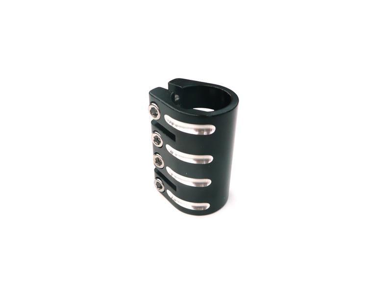 Defiant Black 33.3mm Quad Bolt Scooter Clamp