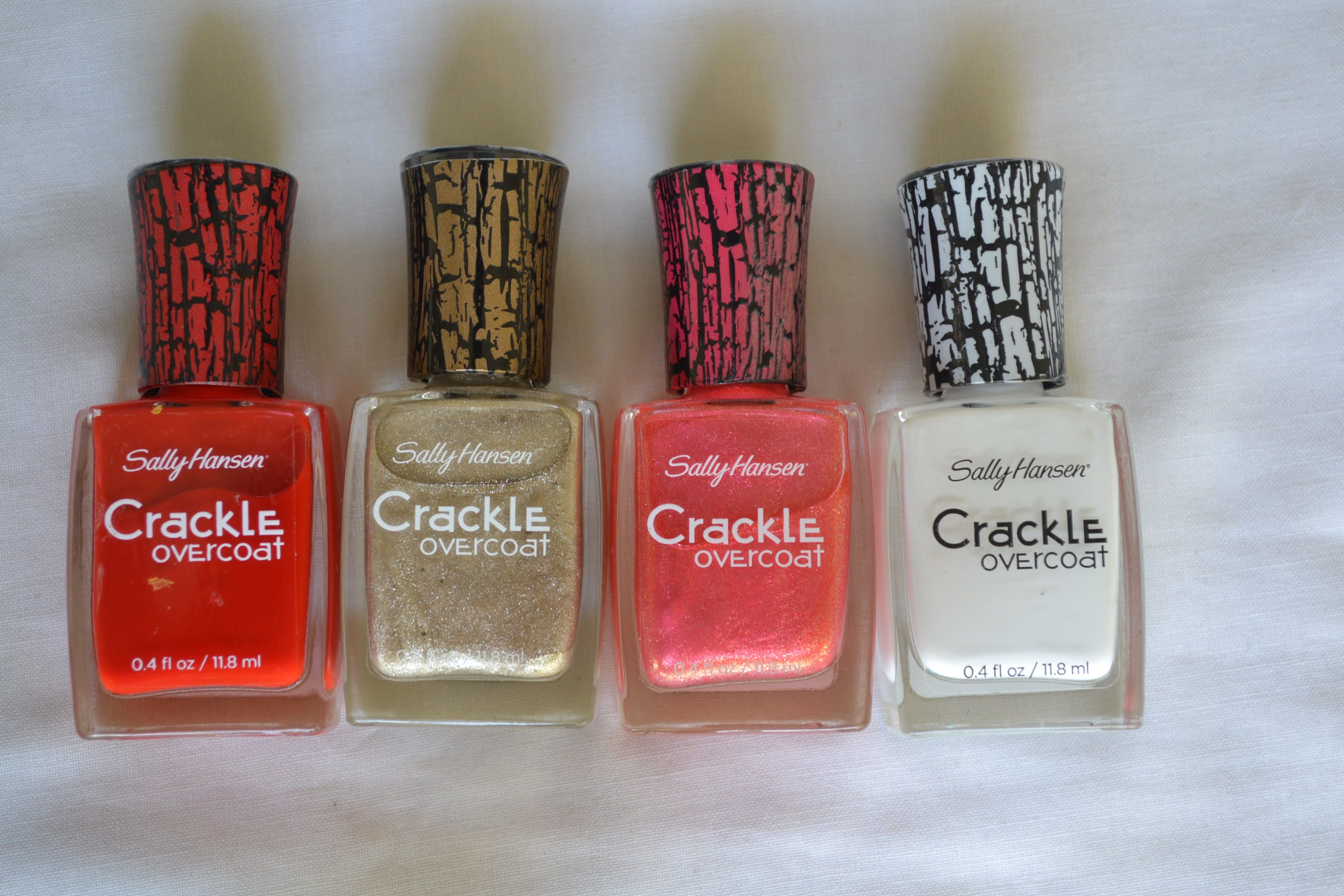 Sally Hansen crackle effect nail polish en colores brillantes (efecto craquelado). haz tu pedido en www.questra-i.com/etpn. Danos like en facebook.com/empiezatupropionegocio