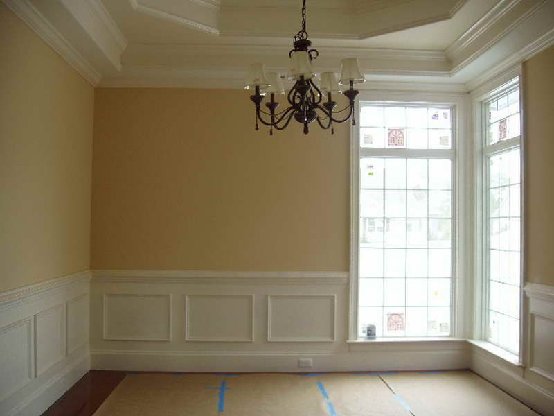 Dining Room Wall Panel Molding With Chandelier White Wall Paneling Wainscoting Styles Dining Room Paneling