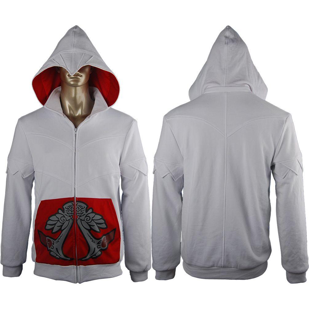 Assassins Creed Ezio Hoodie Sweatshirt Jacket Pullover Halloween Cosplay Costume Kids Adults