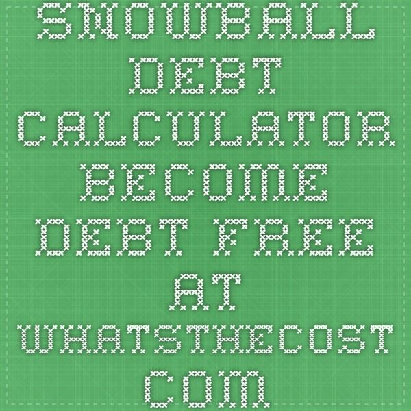 Snowball debt calculator - Become debt free at WhatsTheCost - debt calculator spreadsheet
