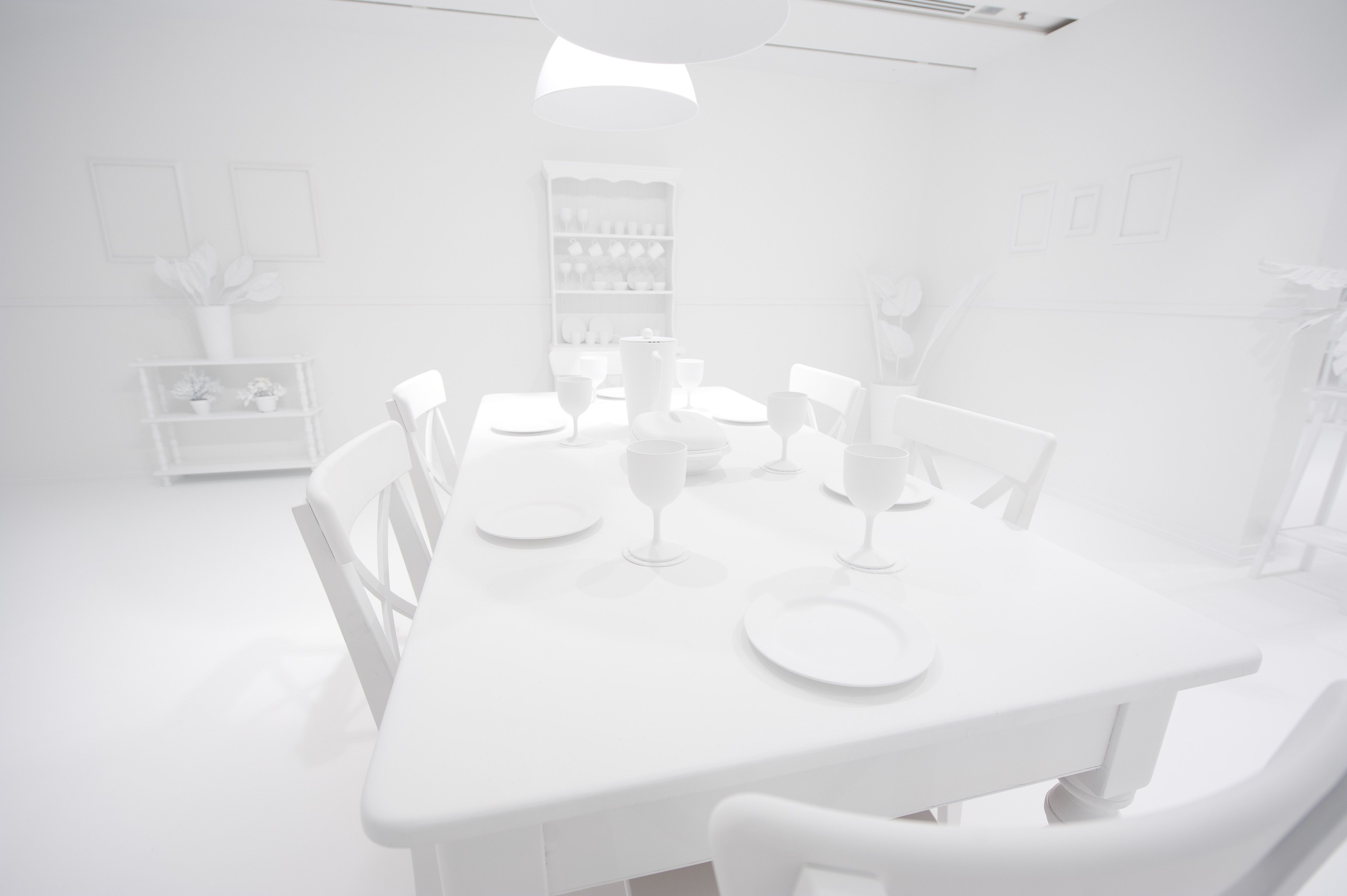 All White Room Yayoi Kusama Look Now See Forever'installation View  ╧ White