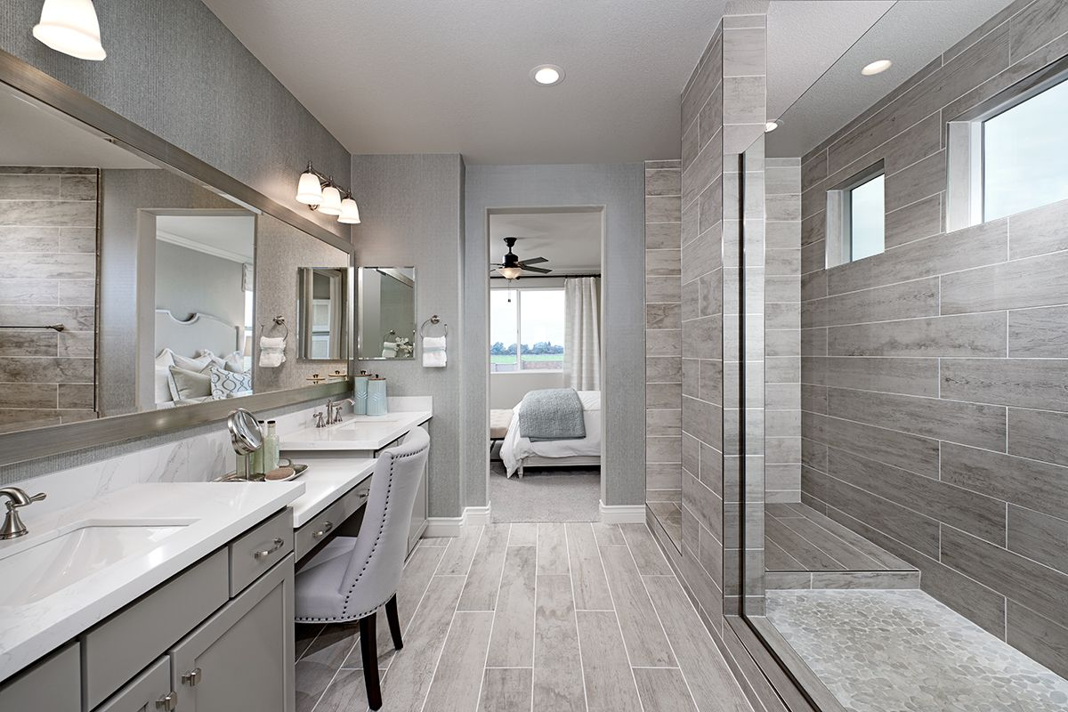 Elegant master bath  Caroline model home  Elk Grove, California