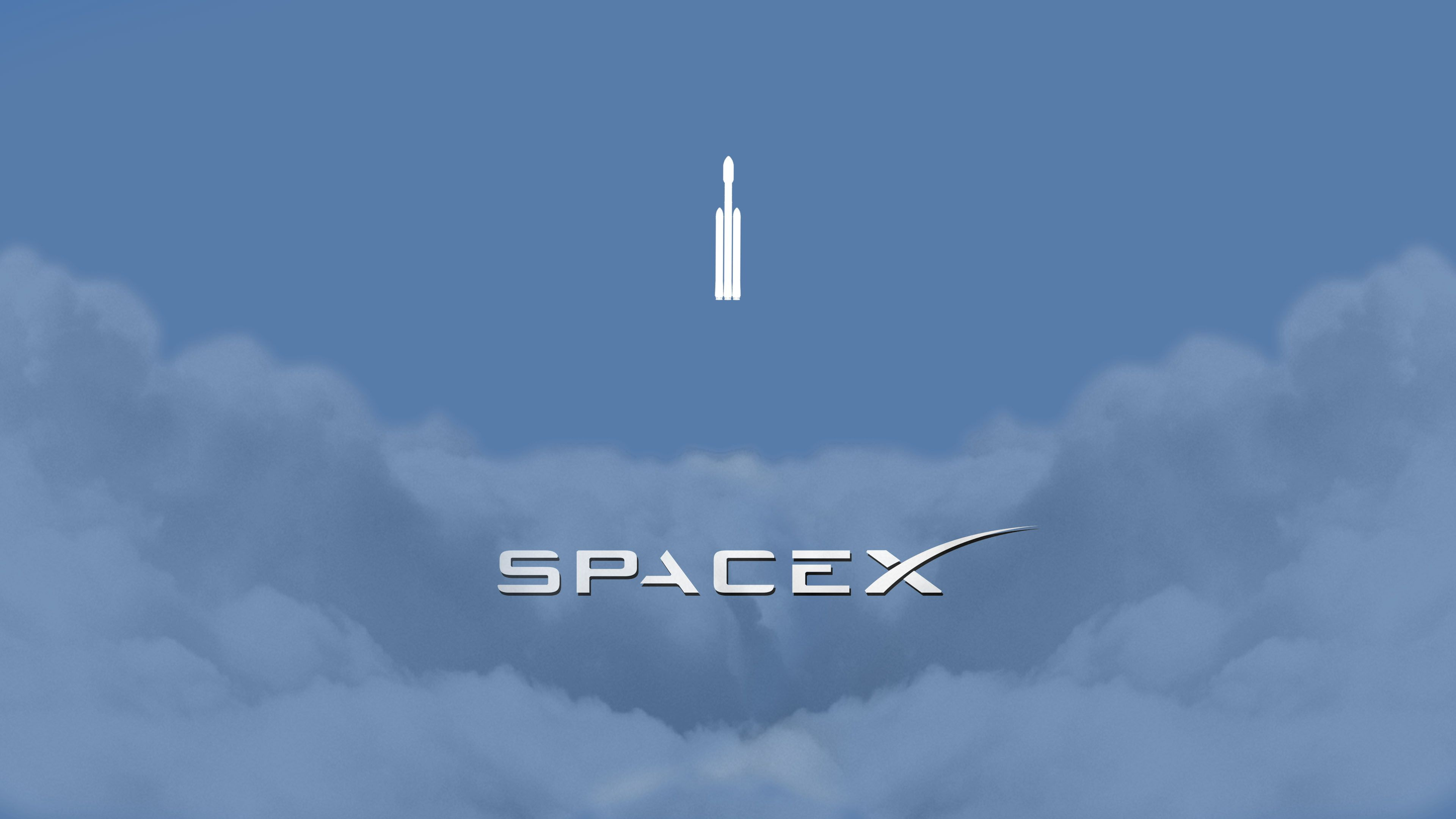 Clouds Minimalism Falcon Heavy Spaceship Space Logo Rocket Spacex Elon Musk 4k Wall In 2020 Iphone Wallpaper Usa Galaxy Wallpaper Iphone Space Phone Wallpaper