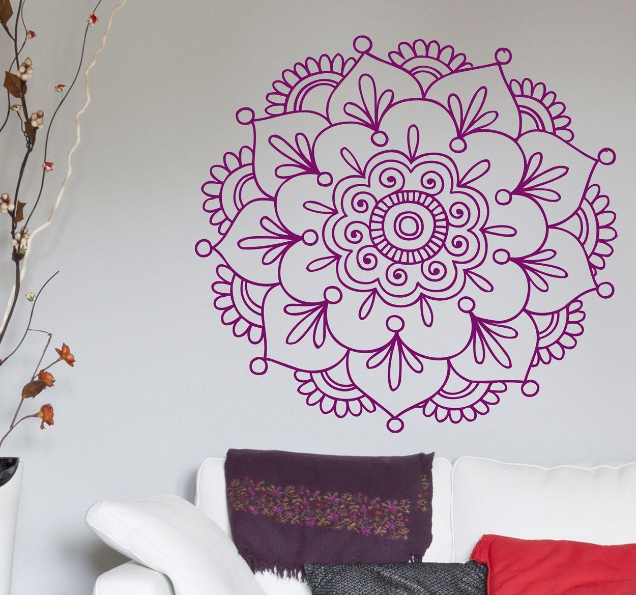Vinilo decorativo flor de loto hindú | Mandala | Pinterest | Mandala ...