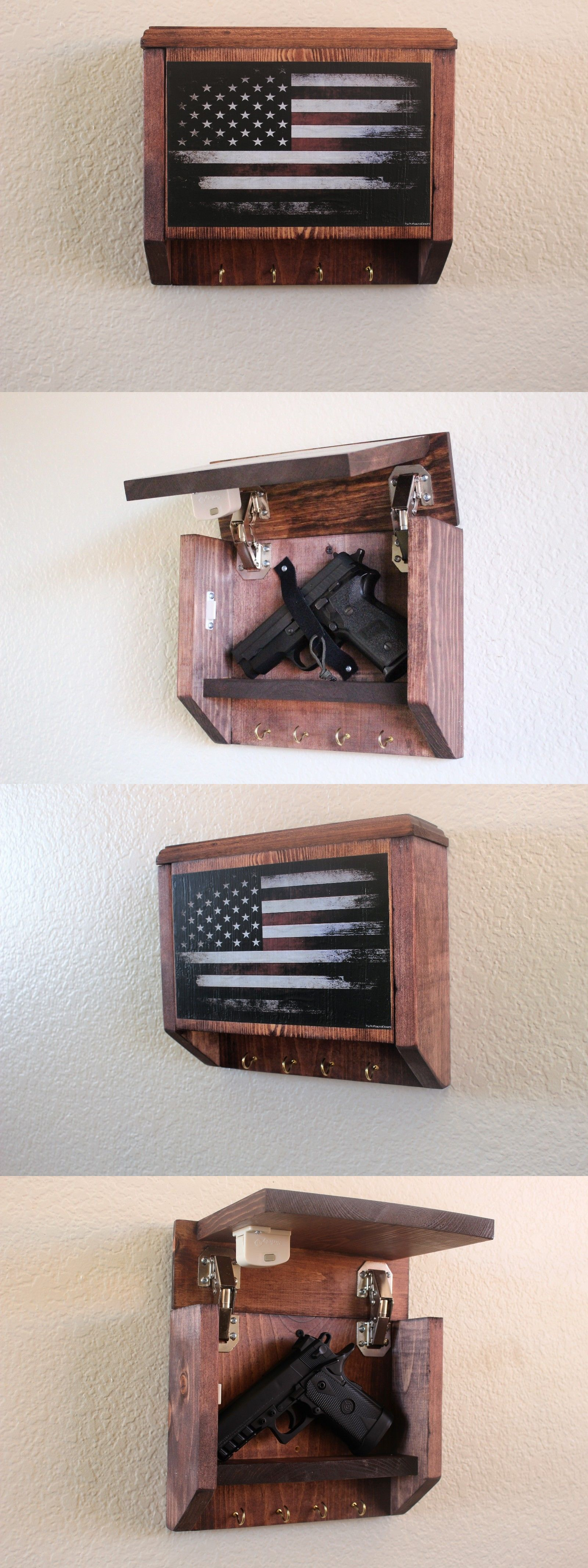 floating furniture compartment shelf gun store wall hidden