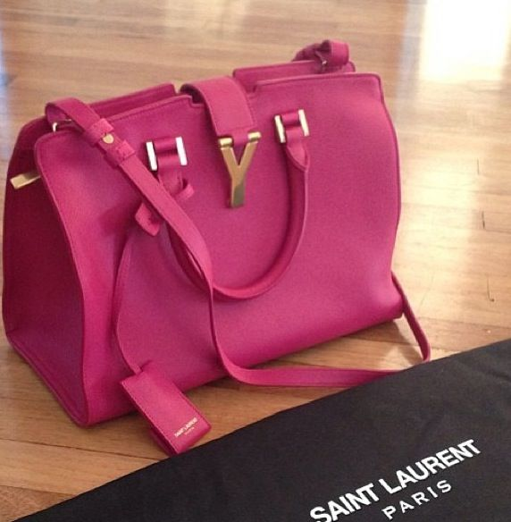 64c6ce5e9de5 Cabas bag in fuschia. Saint Laurent bag  YSL ...