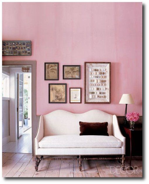 Elle Decor | parlor (step into my) | Pinterest | Elle decor, Pink ...