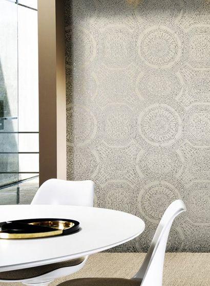 Mosaik: Tapete Rondo Von Arte #tapete #wohnzimmer #französisch #design |  Arte International Tapeten | Pinterest | Retro