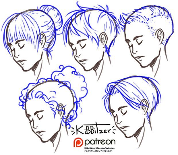 kibbitzer is creating A massive collection of reference sheets -   10 hairstyles Drawing pictures ideas