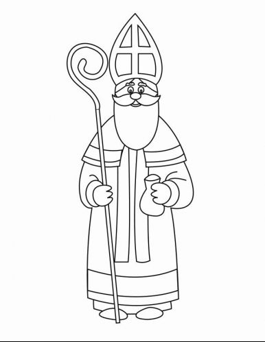 Coloring Page St Nicholas Img 16163 St Nicholas Day Saint