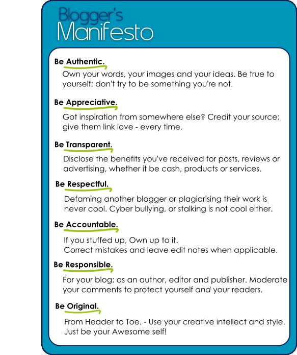 Ethics Professional Responsibility: Blogger's Manifesto