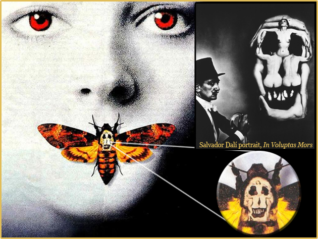 salvador dali portrait in voluptas mors skull in the. Black Bedroom Furniture Sets. Home Design Ideas