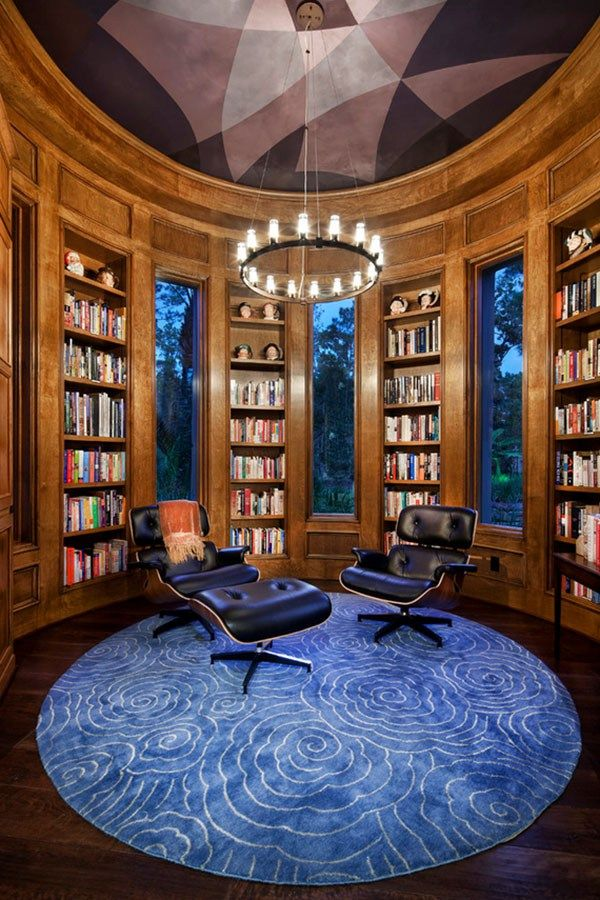 House · Home Library Design ...