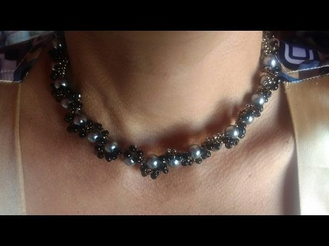 1ra collar de perlas de bisuteria - YouTube