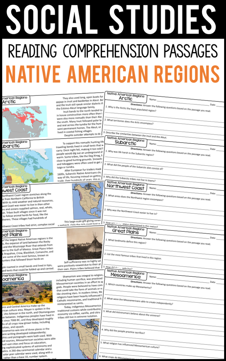 Native American Regions Reading Comprehension Passages A Page Out Of History Comprehension Passage Reading Comprehension Passages Reading Comprehension [ 1150 x 720 Pixel ]