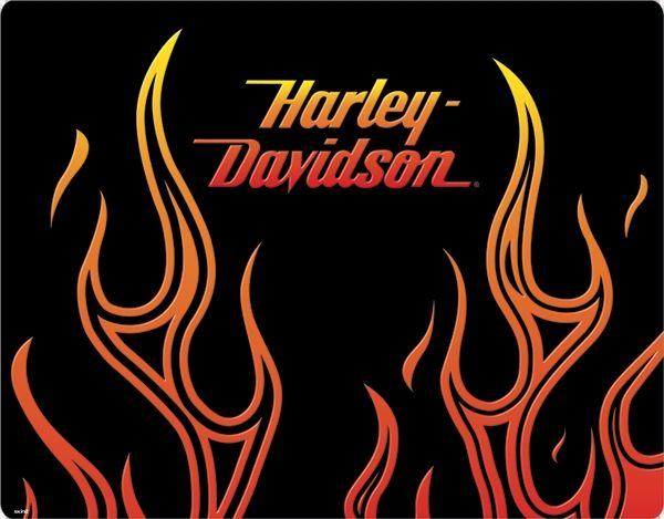 HarleyDavidson In Flames (orange) another stylized