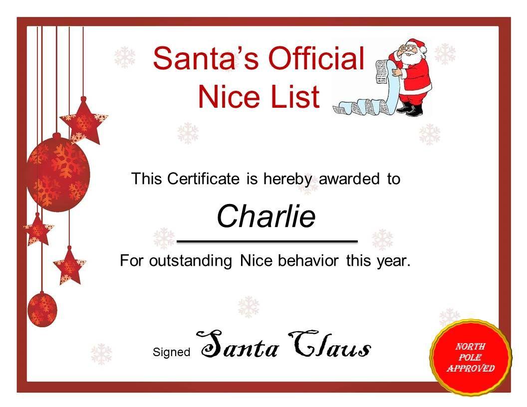 23 best santa nice list images on pinterest kerst christmas 23 best santa nice list images on pinterest kerst christmas tree crafts and christmas vacation yadclub Images