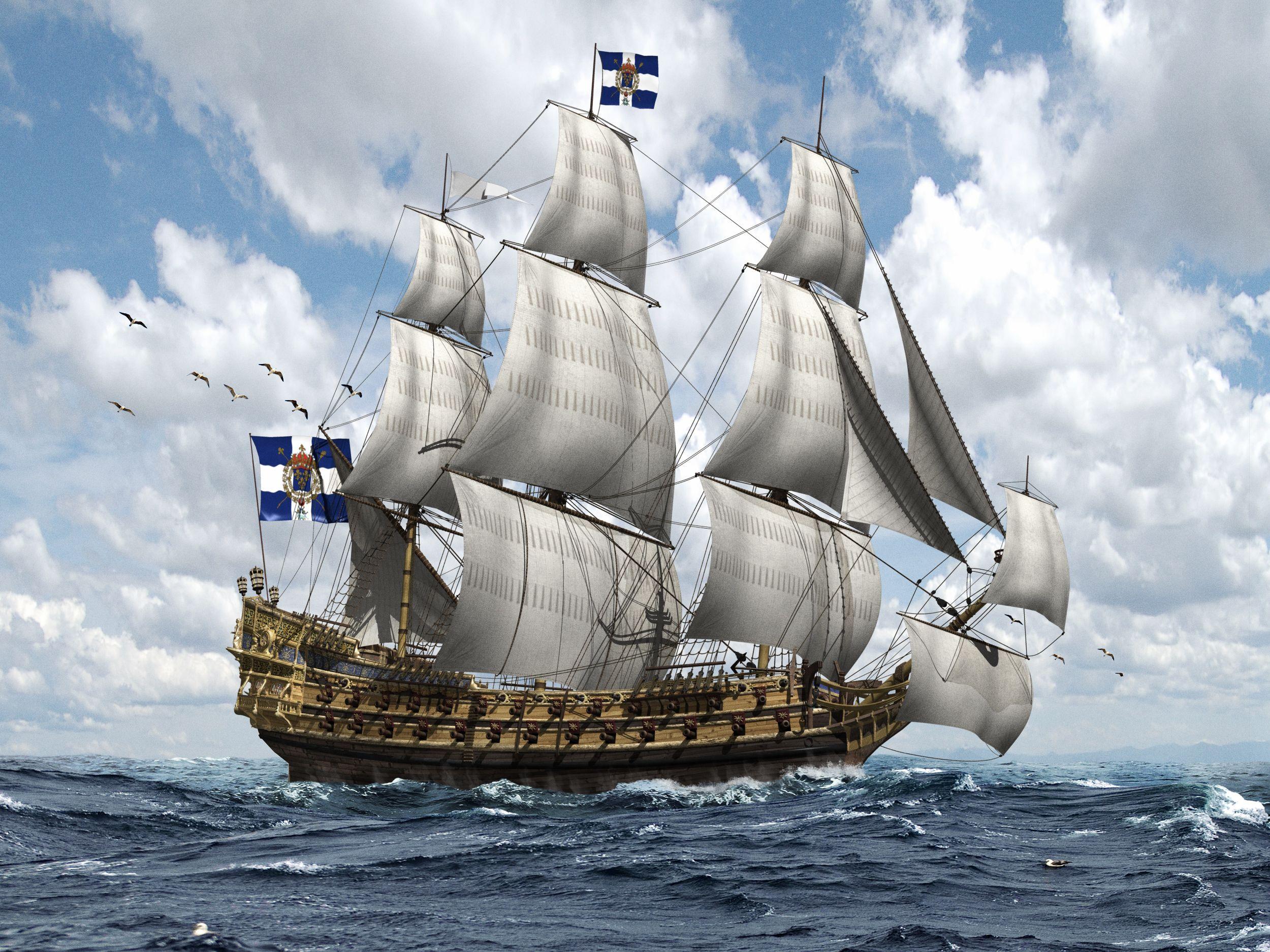 фото и рисунки парусных кораблей узнать полезных