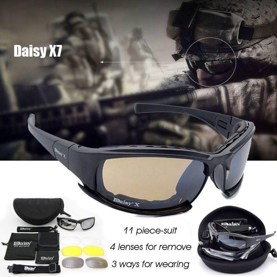 Daisy X7 Military Tactical Goggles Sunglasses Polarized Lenses Glasses Army