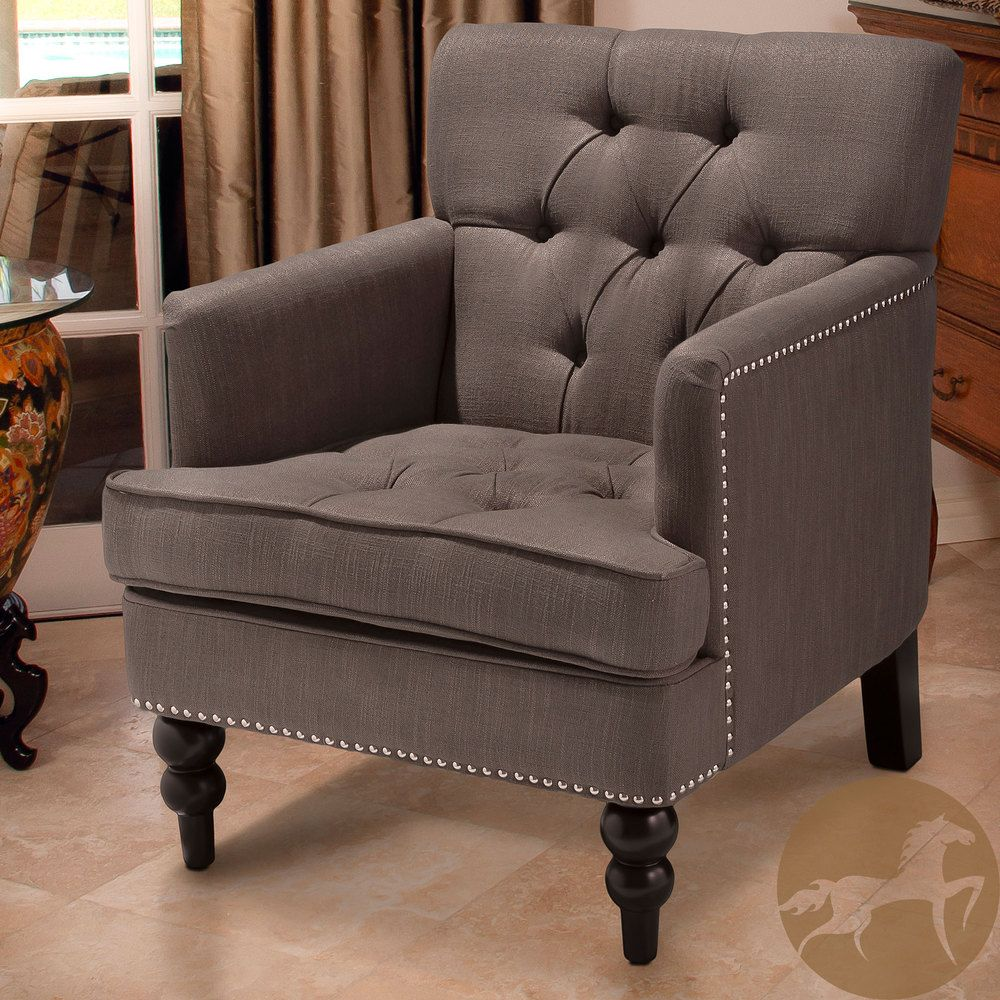 $279 Christopher Knight Home Malone Charcoal Grey Club Chair | Overstock.com