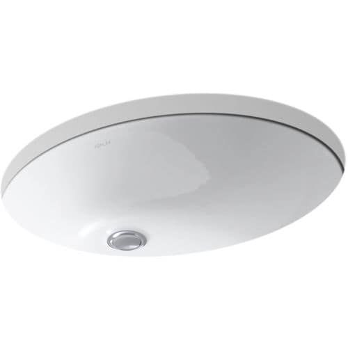 Kohler Caxton Undermount Bathroom Sink With Clamp Assembly, Ice Gray, ...