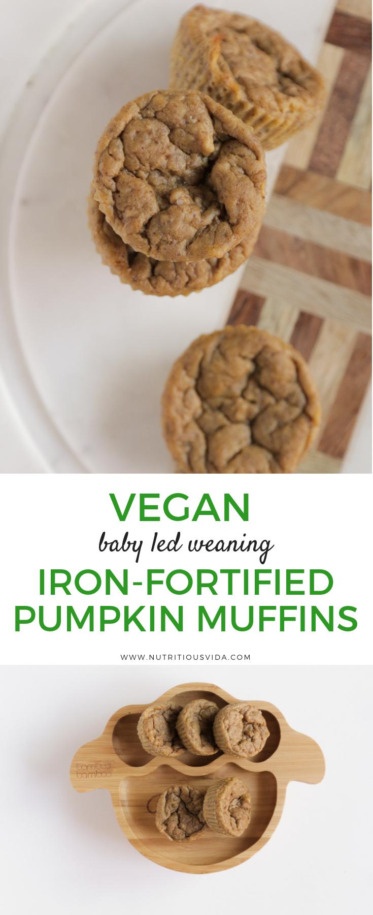 Vegan Baby Led Weaning Pumpkin Muffins