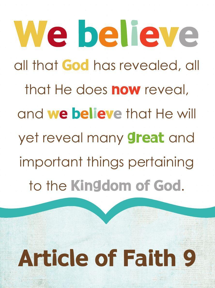 9TH Article of Faith
