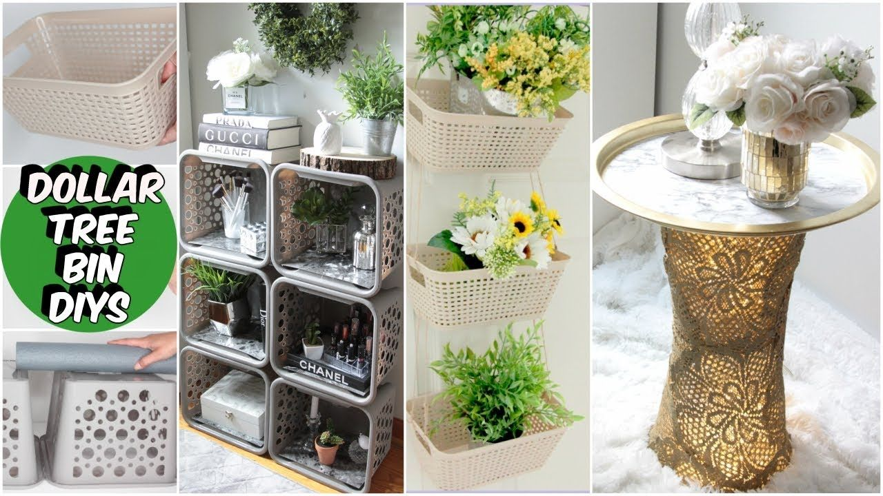 DOLLAR TREE ORGANIZING IDEAS DIY YouTube Hanging Basket