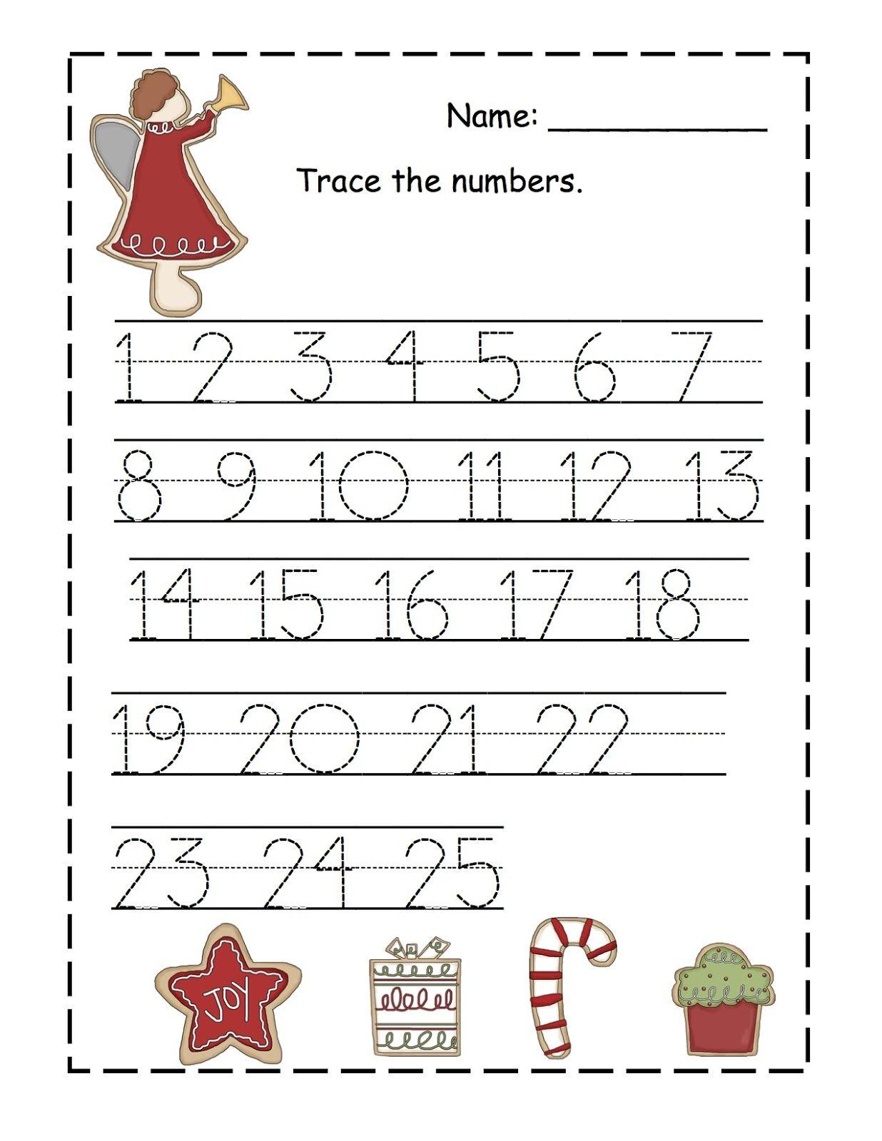 Printable Tracing Numbers 1 20