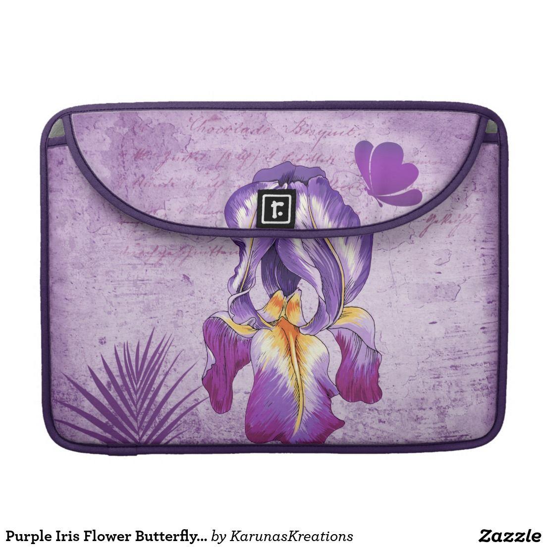 Purple iris flower butterfly macbook pro sleeve the best tech shop purple iris flower butterfly macbook pro sleeve created by karunaskreations izmirmasajfo