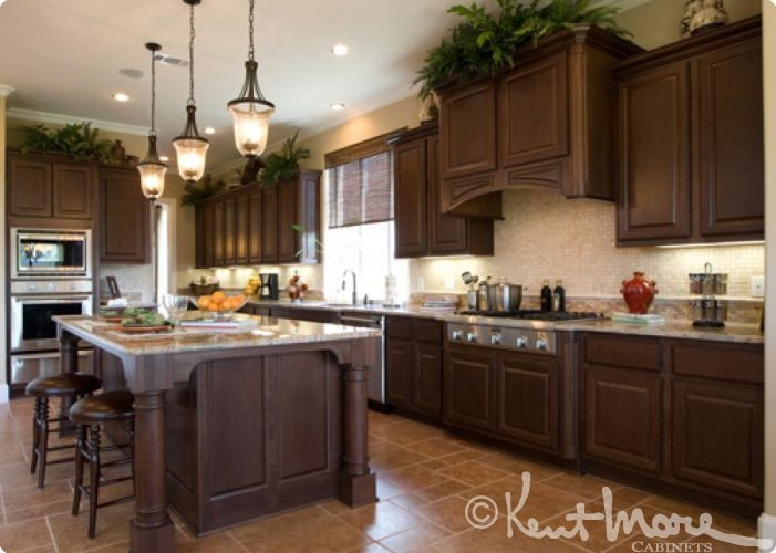 Custom Kitchen Cabinets by Kent Moore Cabinets. Maple Wood ...