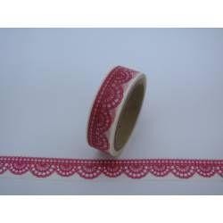 Masking Tape Häkelspitze rosa