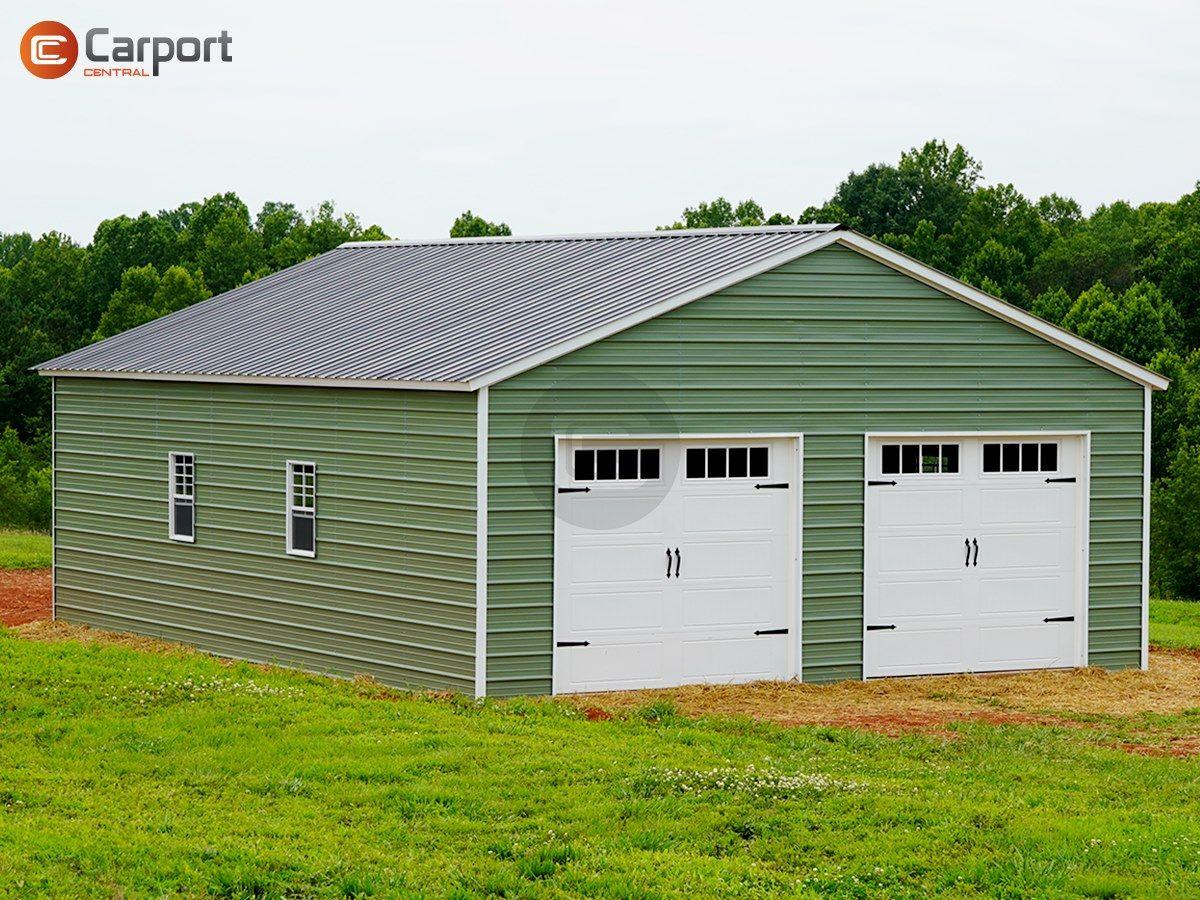 26x36 Vertical Roof Garage 26x36 Steel Garage Prices In 2020 Garage Door Styles Steel Garage Garage Door Design