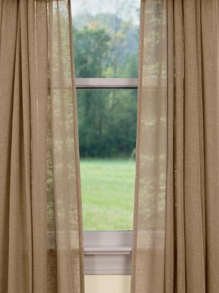 Sheer Linen Rod Pocket Curtains