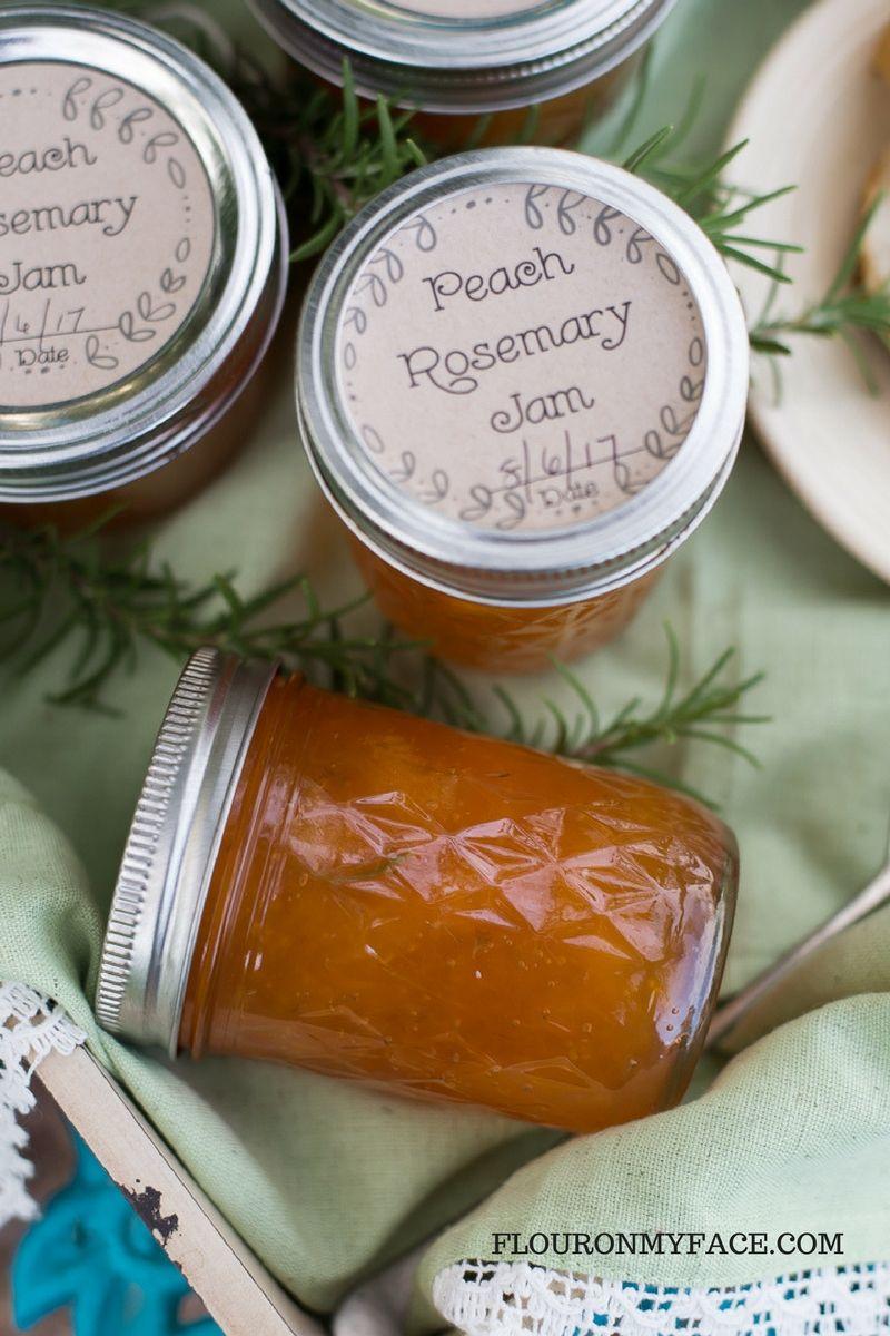 Savory Peach Rosemary Jam Recipe Recipe Jam Recipes Ball Canning Recipe Savory Jam