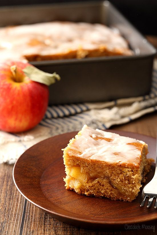 This Apple Fritter Cake has the components of an apple fritter but without frying. It is essentially a glazed coffee cake stuffed with homemade apple pie filling.