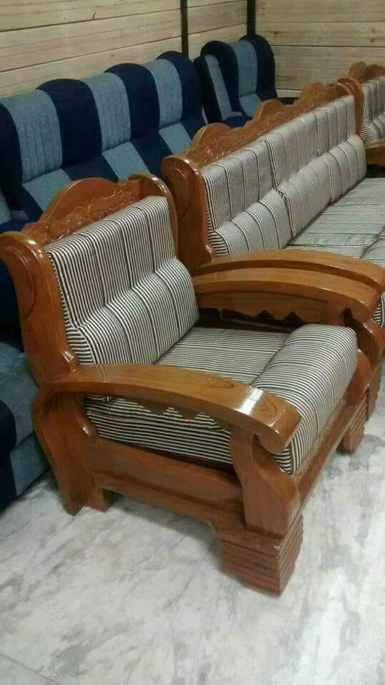 Unique New Teak Wood Sofa Set Designs Pictures